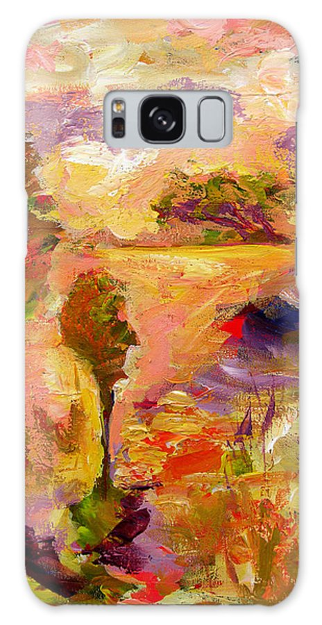 Colorful Canvas Prints Galaxy S8 Case featuring the painting A Joyous Landscape by Julianne Felton