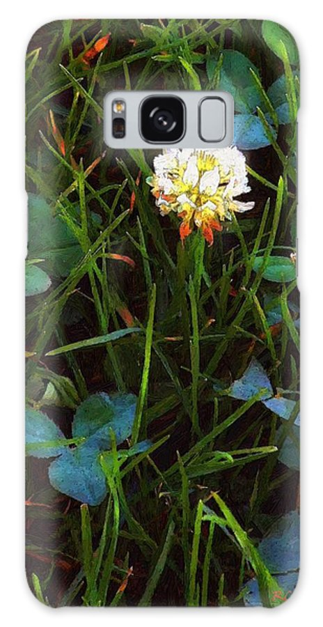 Clover Galaxy S8 Case featuring the painting A Little Bit Of Luck by RC DeWinter