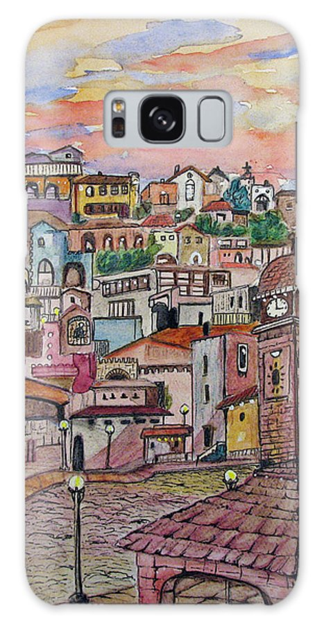 Townscape Galaxy Case featuring the painting A Little Town In France by Patricia Arroyo