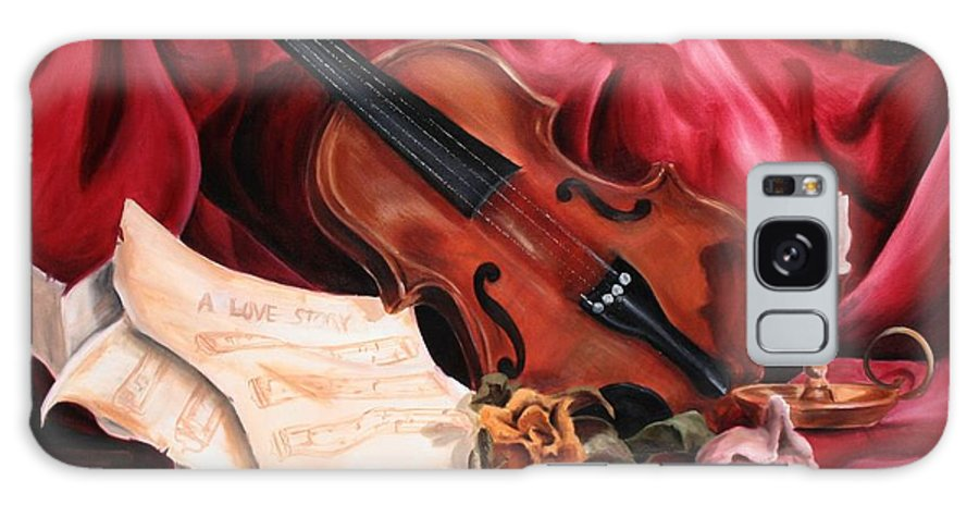 Violin Galaxy Case featuring the painting A Love Story by Maryn Crawford