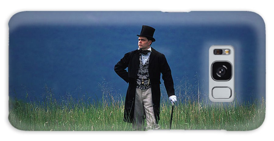 History Galaxy S8 Case featuring the photograph A Man Outstanding In His Field by Carl Purcell