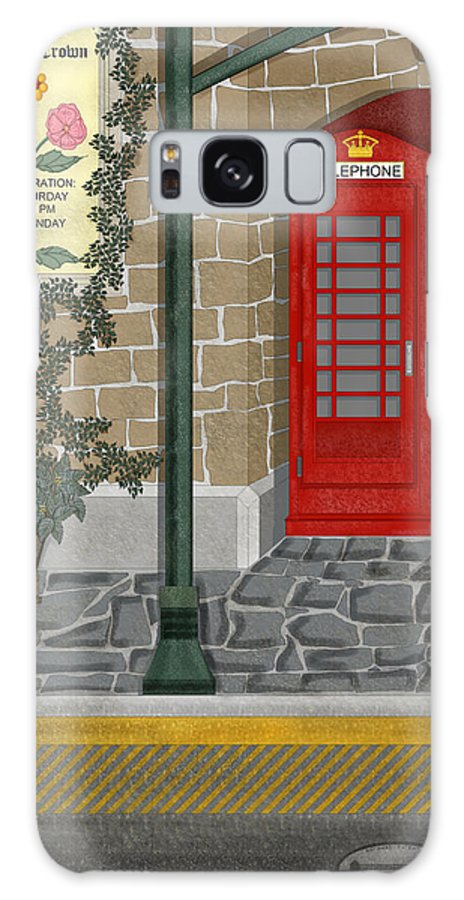 Cityscape Galaxy Case featuring the painting A Merry Old Corner In London by Anne Norskog