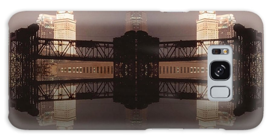 Cleveland Galaxy S8 Case featuring the photograph A Mirror Image Reflection by Kenneth Krolikowski