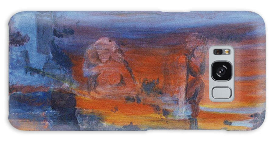 Abstract Galaxy Case featuring the painting A Mystery Of Gods by Steve Karol