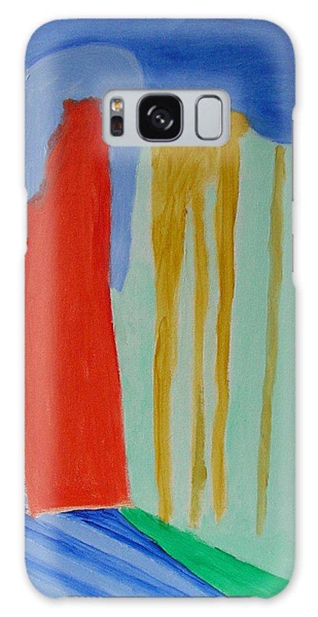 Spiritual Galaxy S8 Case featuring the painting A New Beginning by Harris Gulko