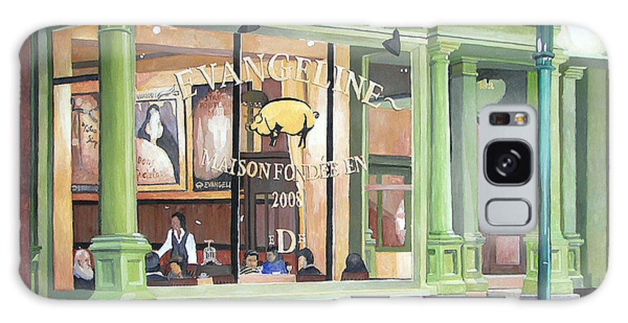 Restaurant Galaxy Case featuring the painting A Night At Evangeline by Dominic White