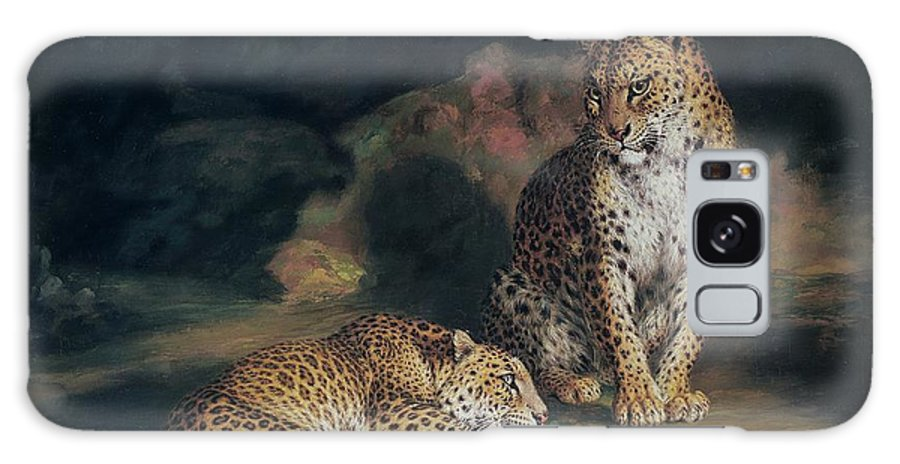 Pair Galaxy S8 Case featuring the painting A Pair Of Leopards by William Huggins