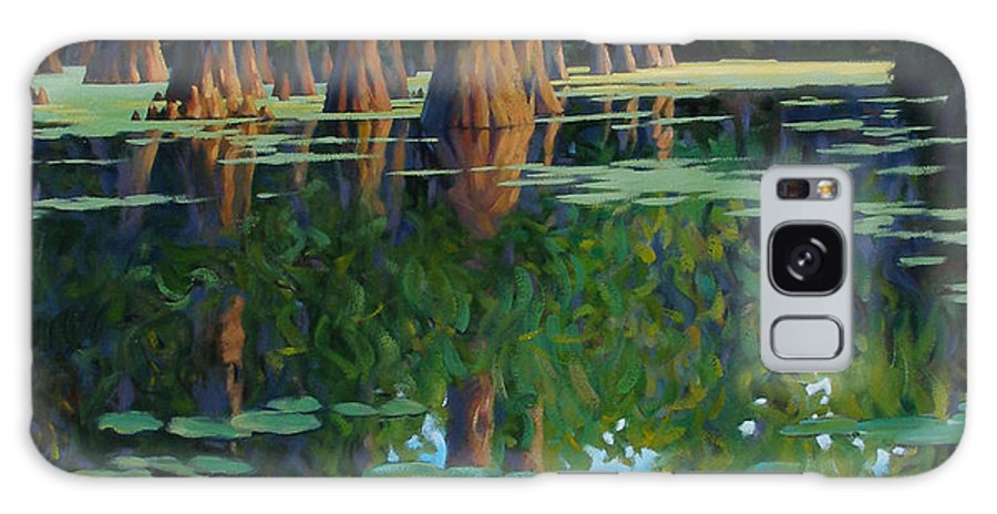 Swamp Galaxy Case featuring the painting A Patch Of Blue by Kevin Lawrence Leveque
