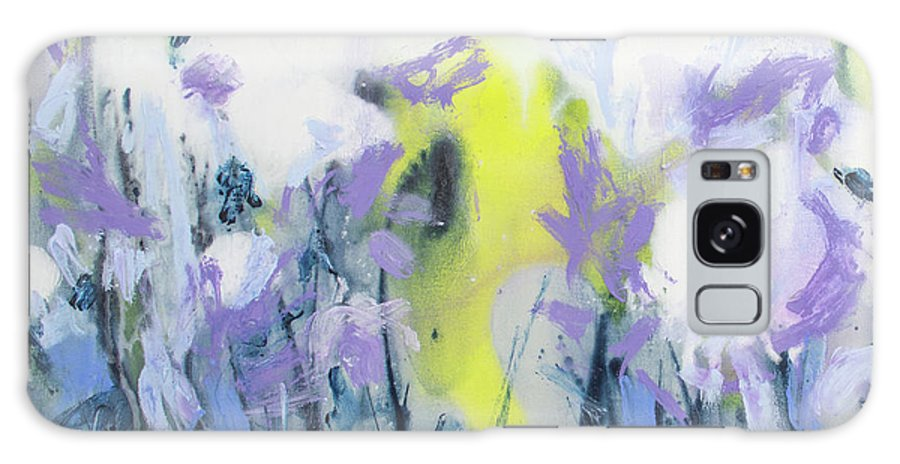 Abstract Galaxy S8 Case featuring the painting A Patch Of Purple by Claire Desjardins