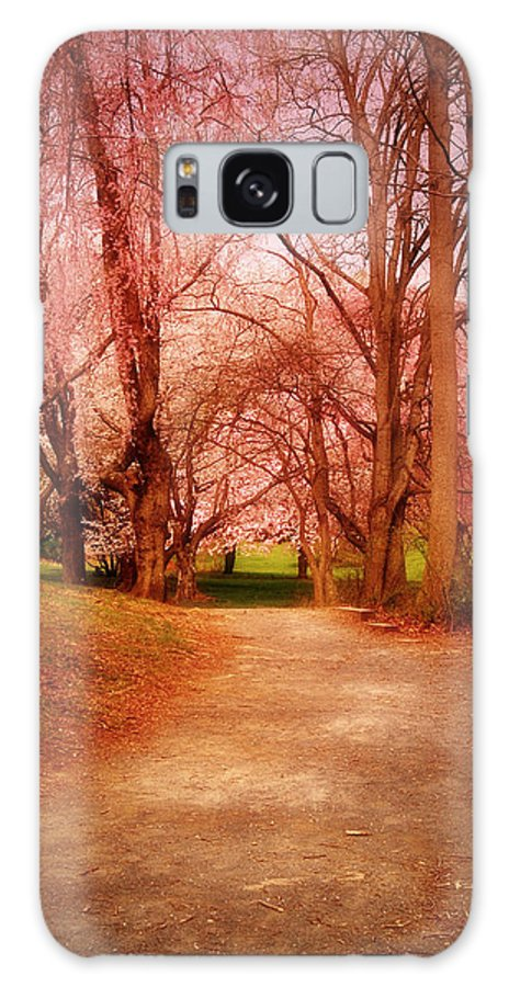 Cherry Blossom Trees Galaxy S8 Case featuring the photograph A Path To Fantasy - Holmdel Park by Angie Tirado