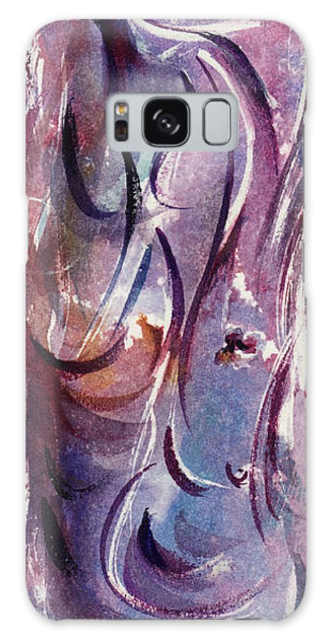 Floral Galaxy S8 Case featuring the painting A Pretty Moment by Rachel Christine Nowicki