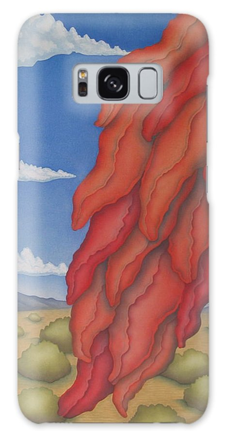 Southwest Galaxy S8 Case featuring the painting A Ristra On A Breeze by Jeniffer Stapher-Thomas