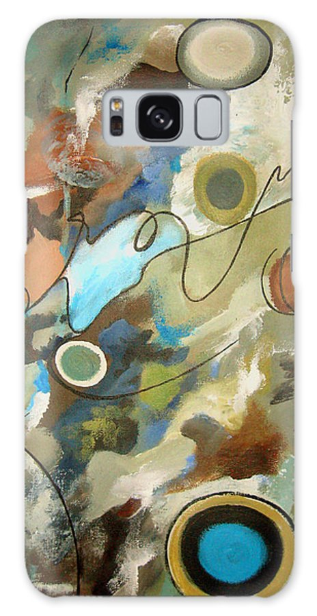 Abstract Galaxy S8 Case featuring the painting A Rolling Stone Gathers No Moss by Ruth Palmer