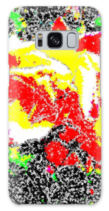 Rose Galaxy S8 Case featuring the digital art A Rose Is 2 by Tim Allen