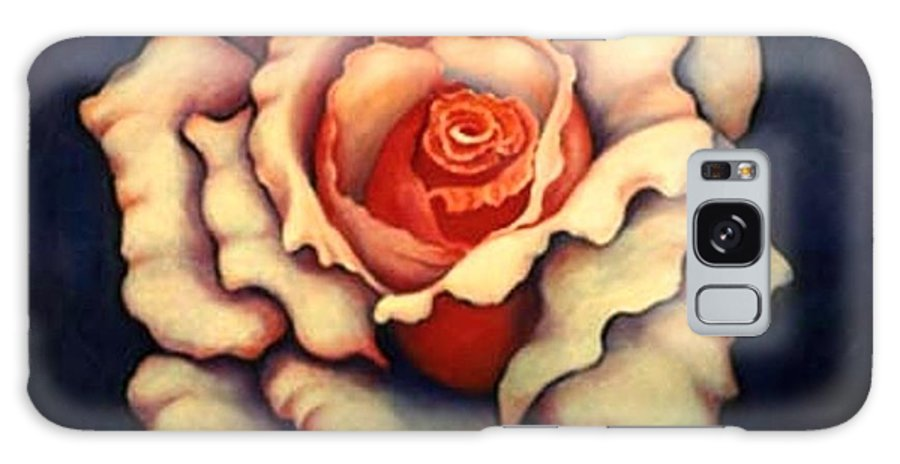 Flower Galaxy S8 Case featuring the painting A Rose by Jordana Sands