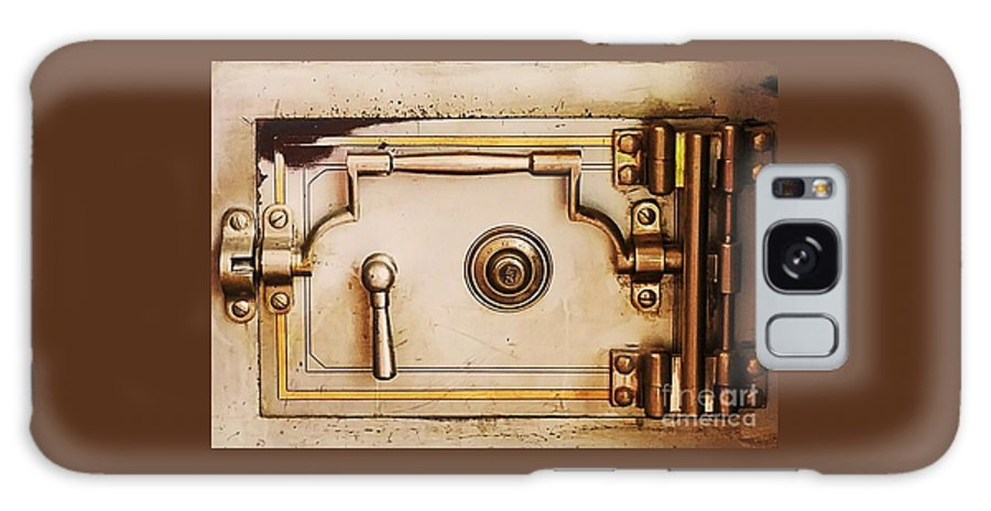 Industrial Art Safe Door Hinges Interior Dundee Bank Whimsy Serene Minimal Art Money History Canvas Print Suggested Metal Frame Poster Print Available On T Shirts Tote Bags Weekender Tote Bags Shower Curtains Phone Cases Pouches Greeting Cards Throw Pillows And Mugs Galaxy S8 Case featuring the photograph A Safe Bet by Marcus Dagan
