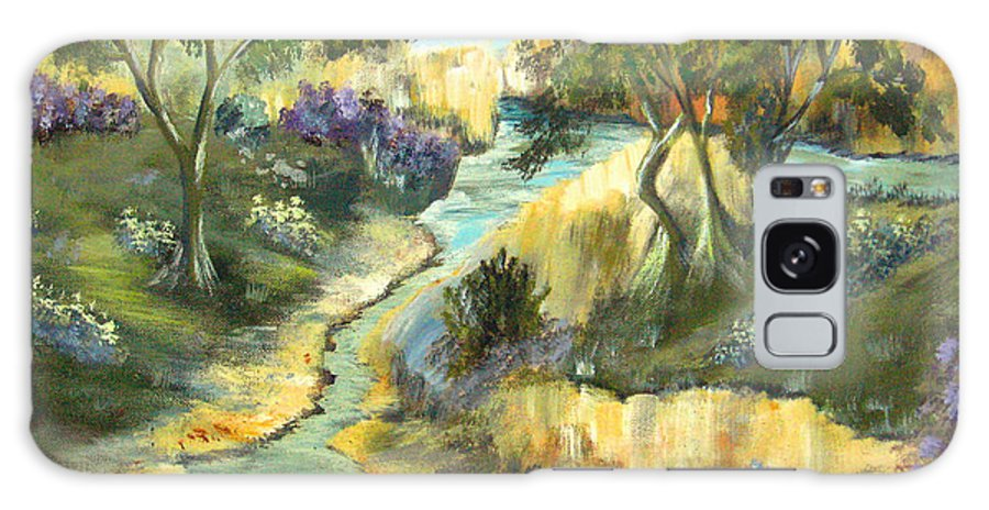 Landscape Galaxy Case featuring the painting A Sandy Place To Rest by Ruth Palmer