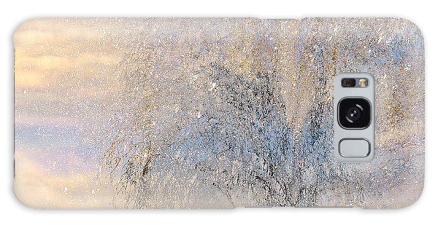 Winter Landscape Fantasy Galaxy S8 Case featuring the digital art A Shimmering Light by Linda Murphy