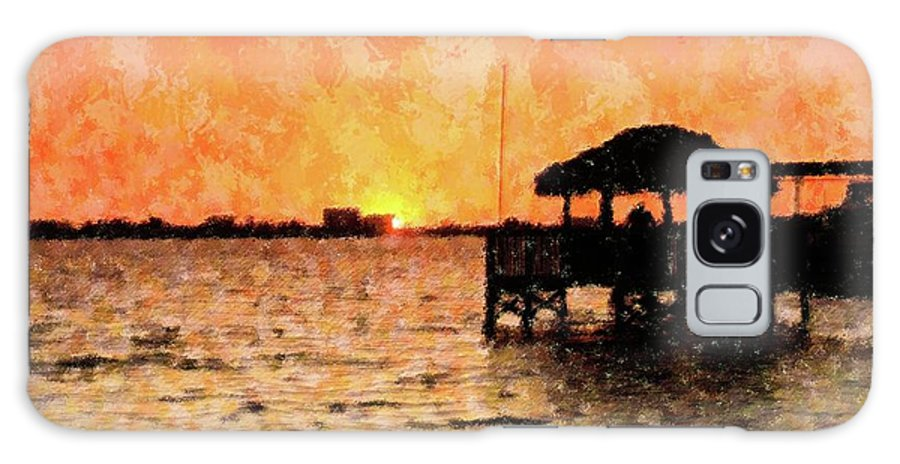 Sunset Galaxy S8 Case featuring the mixed media A Site To Behold by Florene Welebny