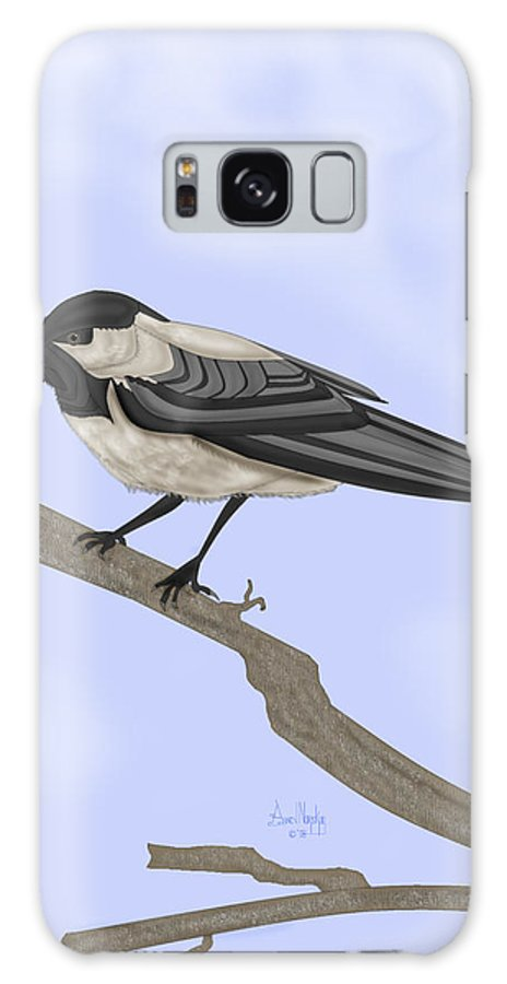 Bird Galaxy S8 Case featuring the painting A Small Guest by Anne Norskog