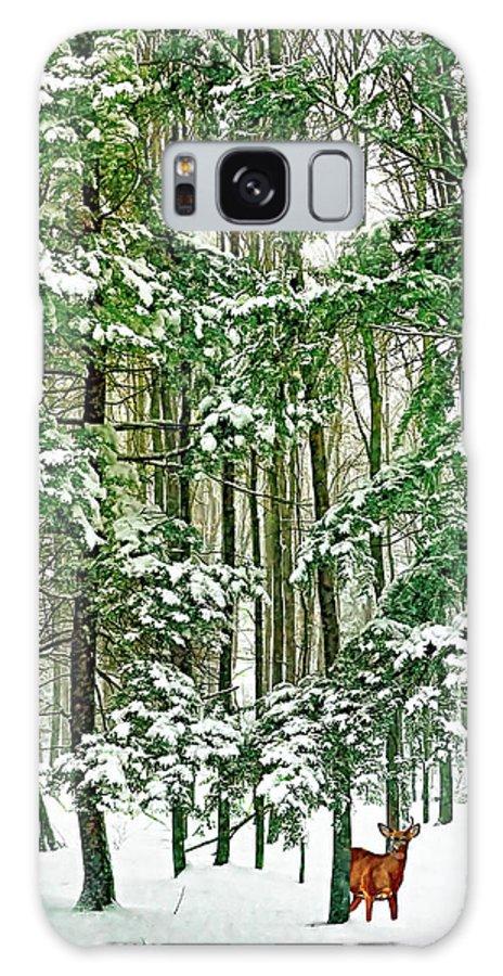 Deer Galaxy S8 Case featuring the photograph A Snowy Day by Steve Harrington