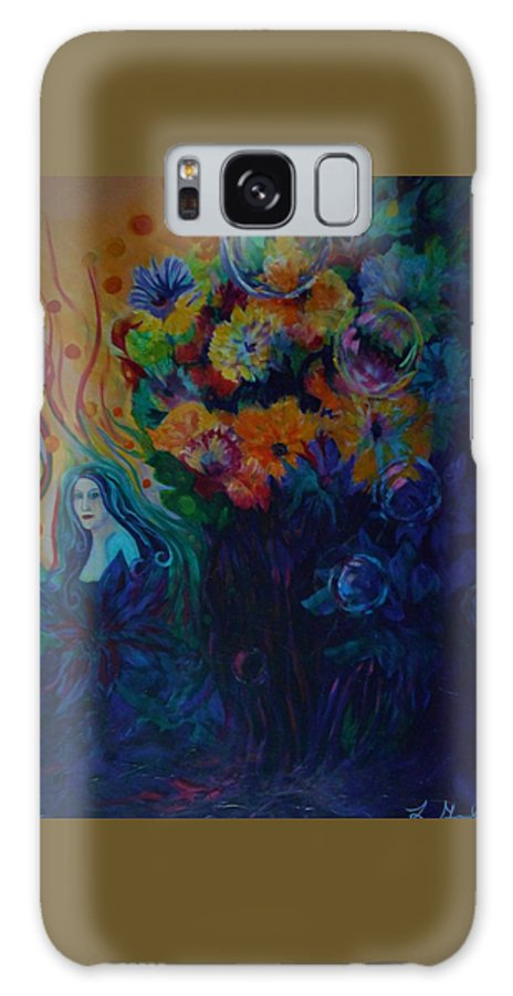 Fairies Galaxy Case featuring the painting A Special Place For The Heart by Carolyn LeGrand