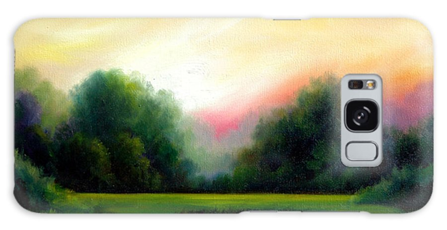 Clouds Galaxy Case featuring the painting A Spring Evening by James Christopher Hill
