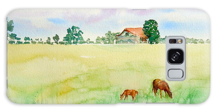 Sharon Mick Galaxy S8 Case featuring the painting A Spring Graze by Sharon Mick