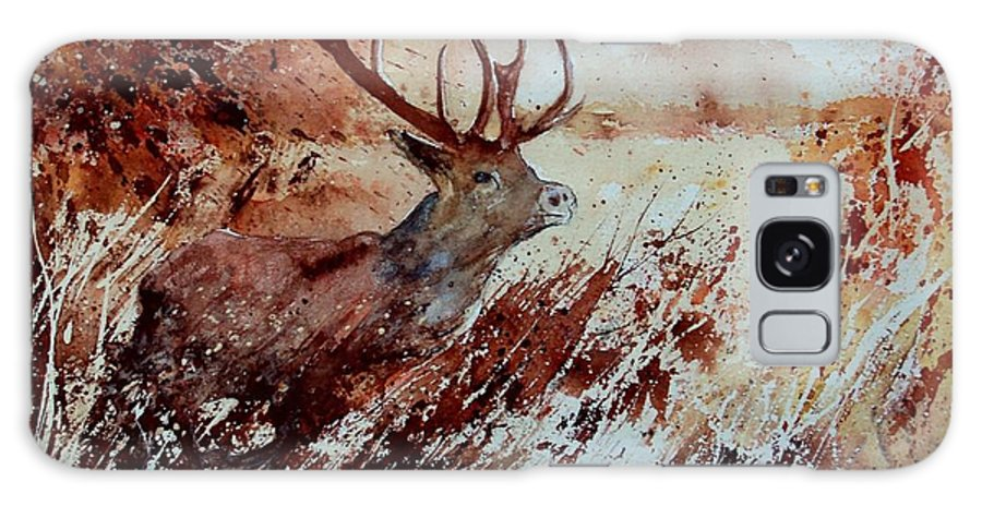 Animal Galaxy Case featuring the painting A Stag by Pol Ledent