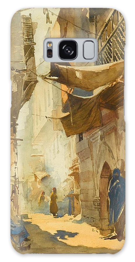 Konstantin Egorovich Makovsky (moscow 1839 - St. Petersburg 1915) Galaxy S8 Case featuring the painting A Street Scene In Cairo by Egorovich