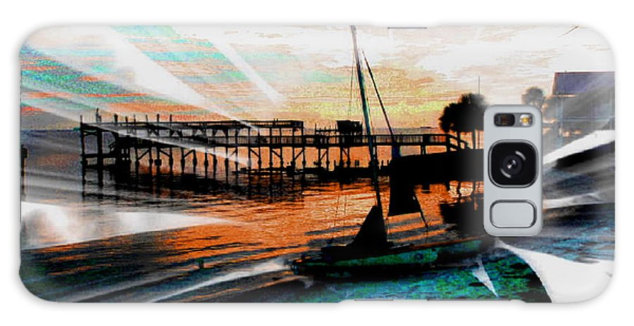 Sail Boat Galaxy S8 Case featuring the photograph A Sunflower-sunset Paradise - Abstract by Debbie May