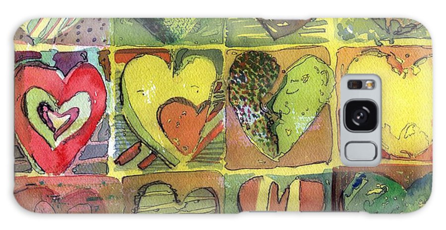 Valentine Galaxy S8 Case featuring the painting A Sunny Valentine by Mindy Newman