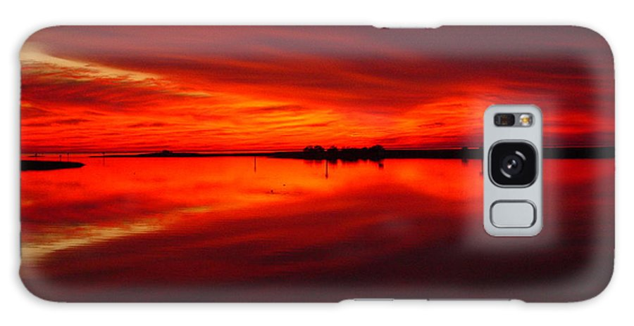Sunset Galaxy Case featuring the photograph A Sunset Kiss -debbie-may by Debbie May
