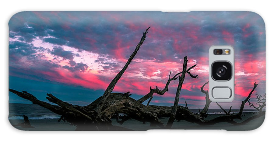 Galaxy S8 Case featuring the photograph A Sunset On Jekyll by John Krivec