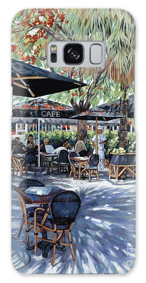 French Cafe Galaxy S8 Case featuring the painting A Table For Two by Danielle Perry