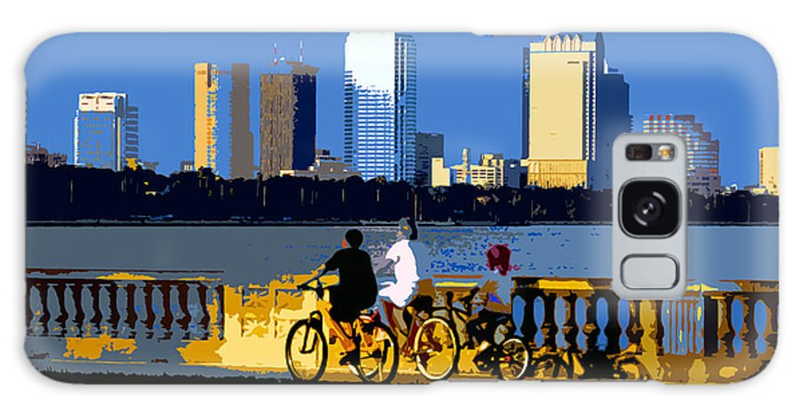 Tampa Bay Florida Galaxy S8 Case featuring the painting A Tampa Bay Florida Summer by David Lee Thompson