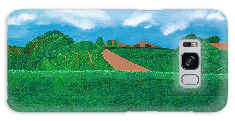 Landscape Galaxy S8 Case featuring the painting A Taste Of Tuscany by Synthia SAINT JAMES