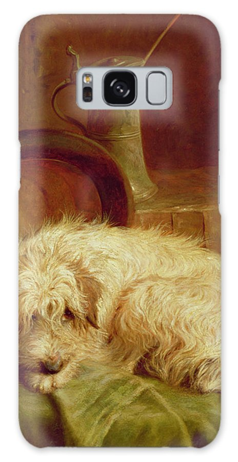 Terrier Galaxy S8 Case featuring the painting A Terrier by John Fitz Marshall