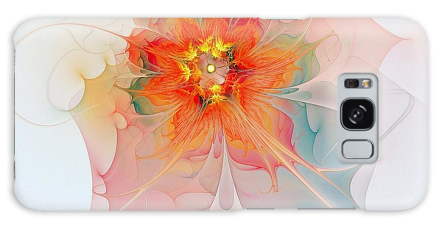 Digital Art Galaxy Case featuring the digital art A Touch Of Spring by Amanda Moore