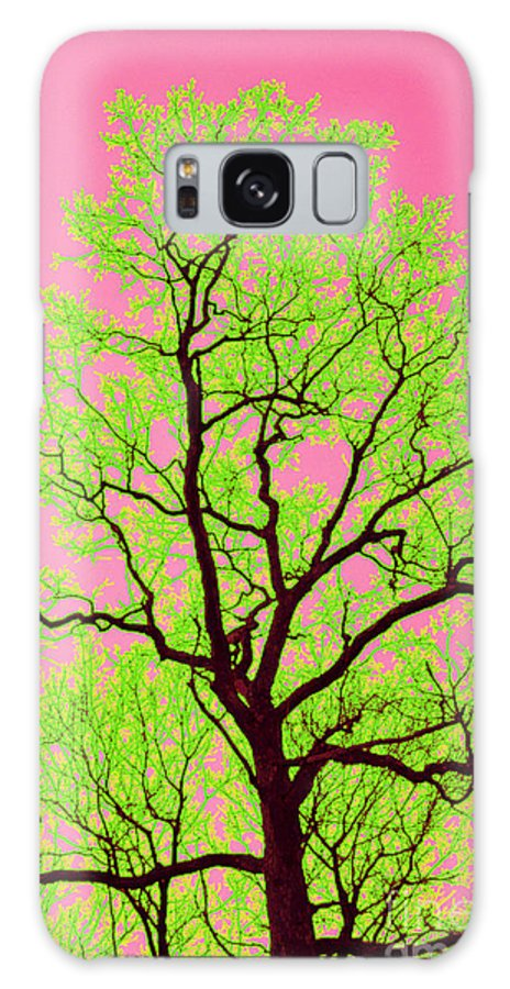 Lime Green Galaxy S8 Case featuring the photograph A Tree Grows In Vegas by Valerie Fuqua