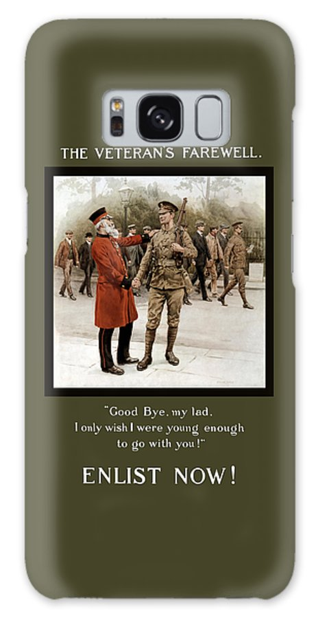 Ww1 Galaxy S8 Case featuring the painting A Veteran's Farewell - Ww1 by War Is Hell Store