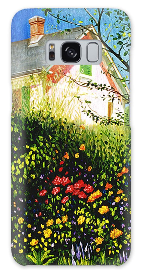 Monets House Galaxy Case featuring the painting A View Of Monets House In Giverny France by Gary Hernandez