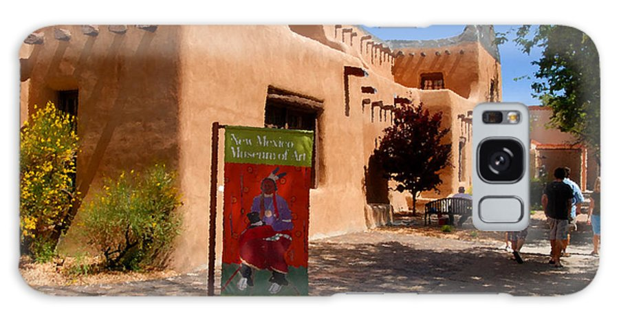 New Mexico Museum Of Art Galaxy S8 Case featuring the painting A Visit To The Museum by David Lee Thompson