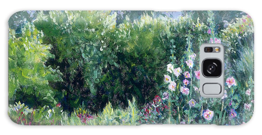 Monet Galaxy Case featuring the painting A Walk In The Garden by Tara Moorman