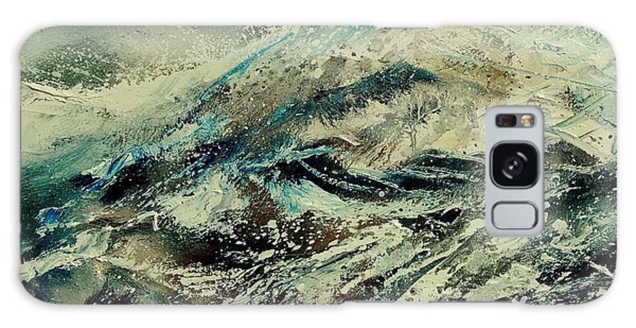 Sea Galaxy S8 Case featuring the painting A Wave by Pol Ledent