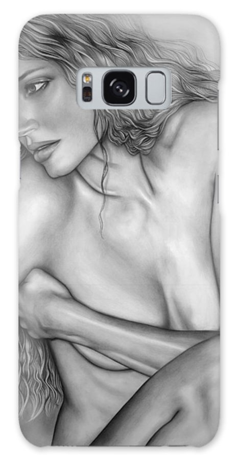 A Woman Galaxy Case featuring the drawing A Womans Beauty by Larry Lehman