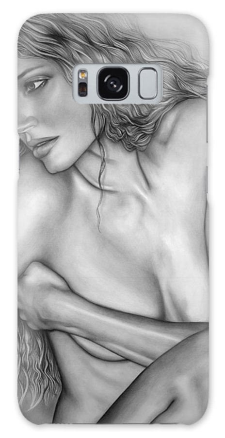 A Woman's Beauty Galaxy S8 Case featuring the drawing A Womans Beauty by Larry Lehman
