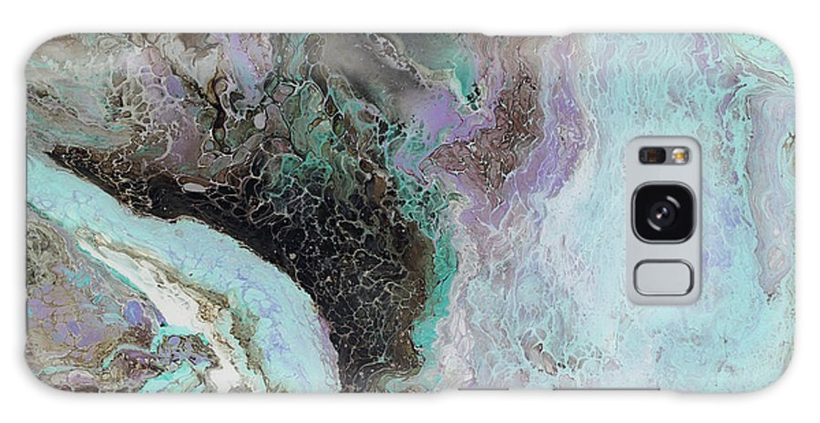 Violet Galaxy S8 Case featuring the painting Abalone by Tamara Nelson