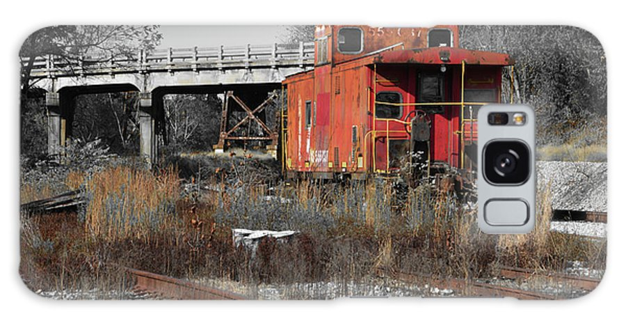 Train Galaxy S8 Case featuring the photograph Abandon Caboose by Aaron Shortt