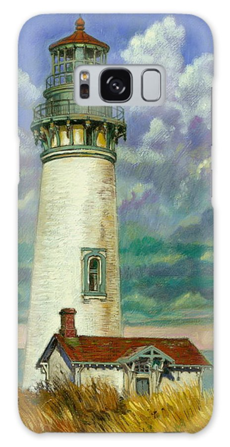 Lighthouse Galaxy S8 Case featuring the painting Abandoned Lighthouse by John Lautermilch
